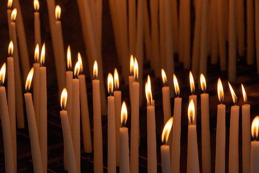 Candles, Pilgrimage, Maria, Prayer, Pray, Intention