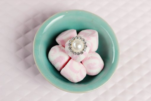 Pearl, Marshmallows, Pretty, Wedding, Romantic, Love