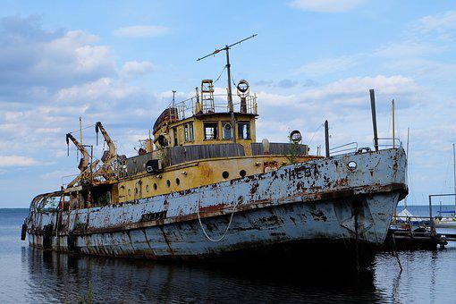 Ship, Rust, Corrosion, Antiquity, Boat, Ships, The Lone