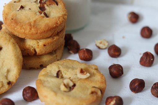Hazelnut, Sandblasted, Cookie, Cake, Dried Fruit, Eat