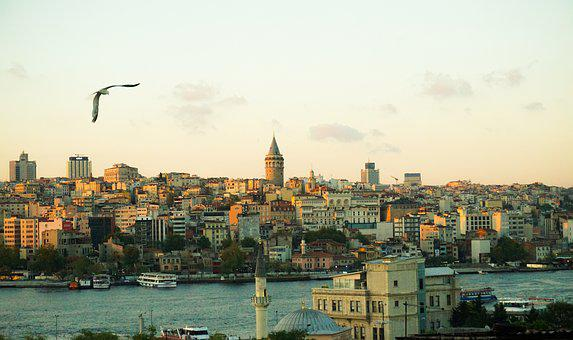 Istanbul, Marine, See, Clouds, Turkey, Blue, Landscape