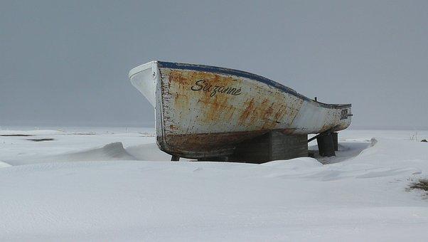 Old, Boat, Ship, Fishing