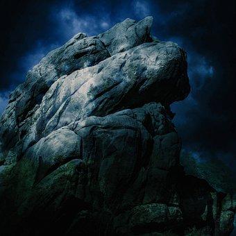 Rock, Nature, Stone, Landscape, Mountain, Rocks, Blue