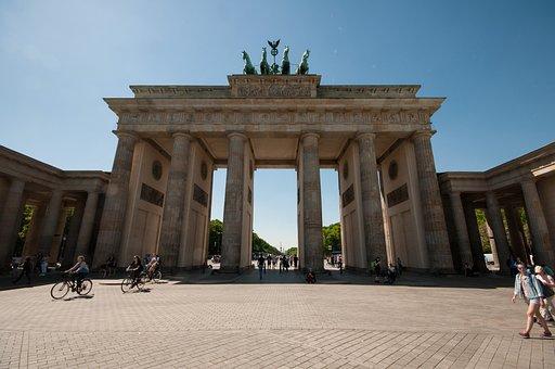 Berlin, Brandenburg Gate, Summer, Germany, Architecture