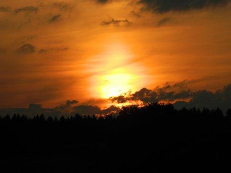 Sunset, Abendstimmung, Romance, Evening Sky, Twilight
