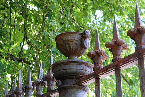 Fence, Architecture, Grille, Vase, Ornament
