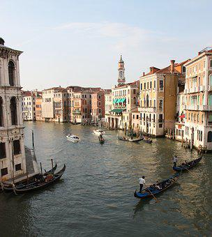 Venice, Channel, Channels, Gondola, Italy, Boats