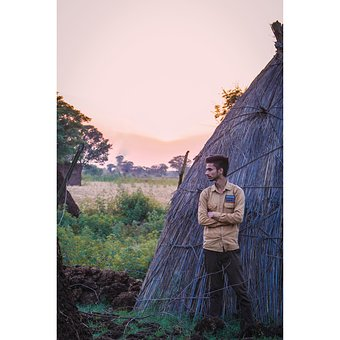 Sunset, Village, Boy, Punjab, Culture