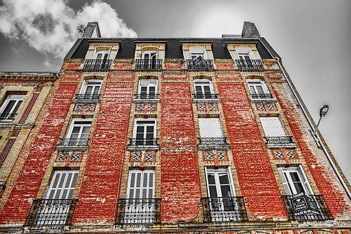 House, Facade, Le Havre, France, Architecture, Havre