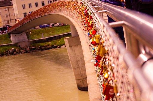 Salzburg, Austria, Padlock, Bridge