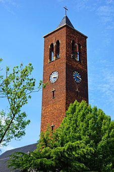 Church, Church Tower, Tower, Steeple, Building