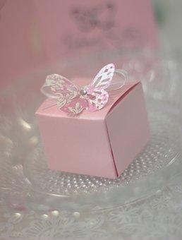 Pink, Butterfly, Box, Wedding, Birthday, Card