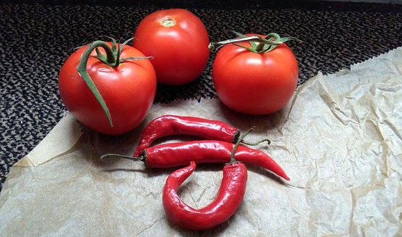 Tomato, Chile, Pepper, Tomatoes, Red, Vegetables