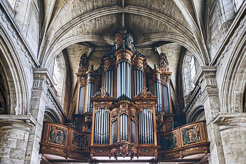 Pipe Organ, Notre Dame, Le Havre, Cathedral, Church