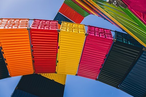 Freight Container, Le Havre, Port, Harbour, Colourful
