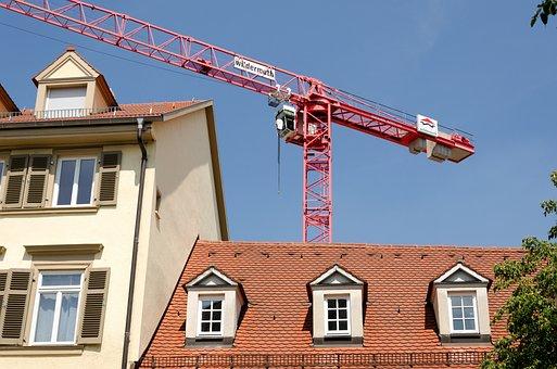Build, Construction, Housing, Crane, Baukran