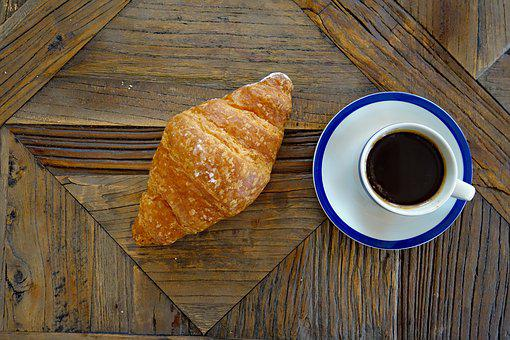 Coffee, Coffee Cup, Croissant, Croissantes