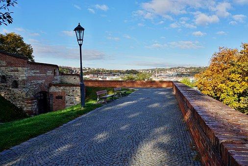 Gallery, Fortress, Prague, Czechia, Vysehrad, Wall