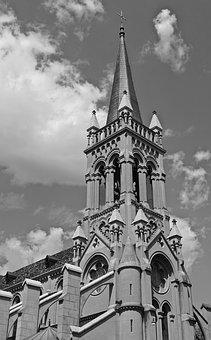 Steeple, Spire, Church, Cathedral, Architecture, Facade