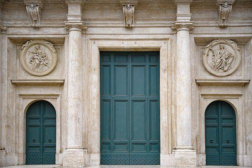 Church, Facade, Door, Architecture, Religion, Catholic