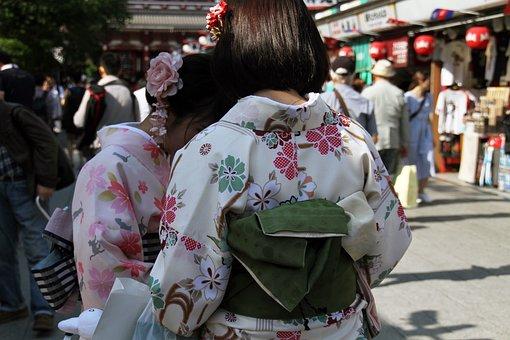Kimono, Japanese, Traditional, Fashion, Female