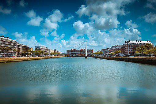 Le Havre, France, Normandy, River, Travel, Landscape