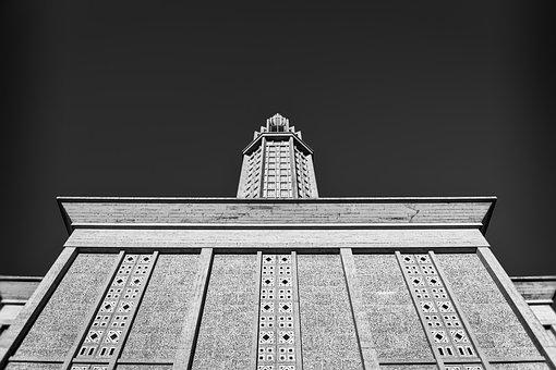St Joseph's Church, Tower, Le Havre, France, Monochrome
