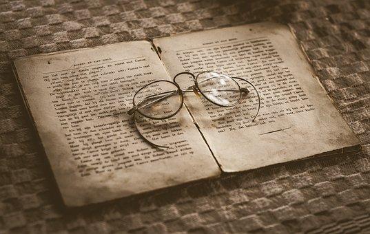 Old, Book, Glasses, Antique, Vintage, Library
