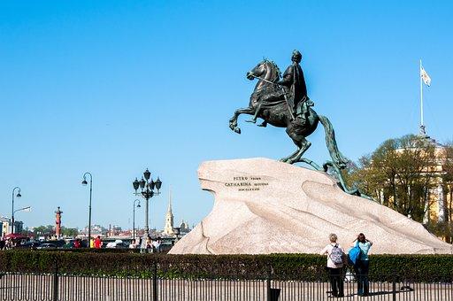 Monument, Bronze Horseman, History, Rider, Bronze