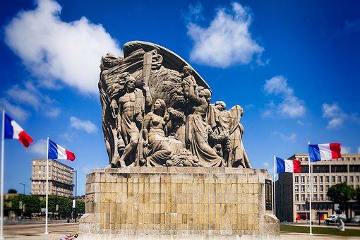 Monument, Le Havre, Liberation, Wwii, Landmark, France