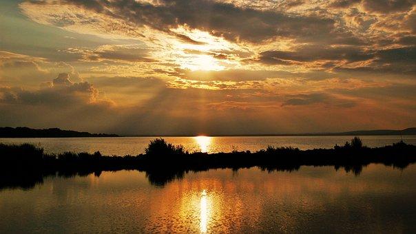 Lake Balaton, Water, Lake, Nature, Summer, Clouds, Mood