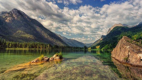 Lake, Hintersee, Alpine, Landscape, Bavaria, Nature