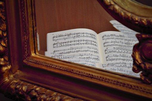 Lyrics, Mirror, Old Fashioned, Sheet Music, Note, Music