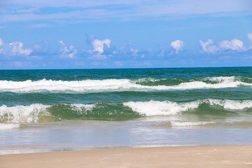Sea, Ocean, Wave, Green, Blue, Heaven, Foam
