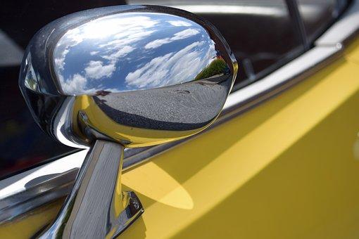 Auto, Side Mirror, Oldtimer
