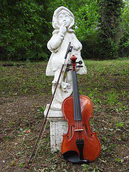 Violin, The Figurine, Instrument, Music, Ornament, Bow