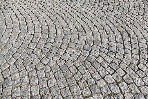 Cobblestones, Paving Stones, Wavy, Patch, Paved