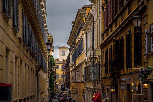 Street, Facade, People, Building, Architecture, Ancient