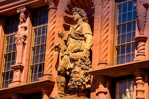 Statue, Germany, Sculpture, Stone, Castle, Heidelberg