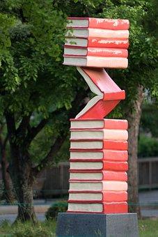 Sculpture, Book, Art, Garden, Memorial, Park