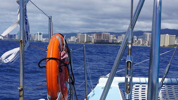 Sea, Boat, Blue, Travel, Summer, Wave, Sail, Island