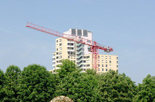 Home, Skyscraper, Crane, Baukran, Build, Site, Renovate
