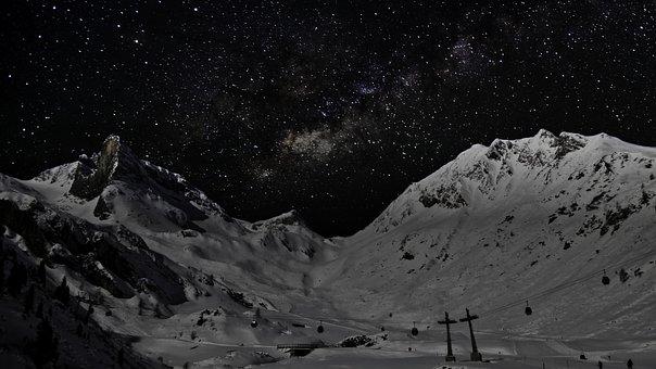Sky, Mountain, High Mountain, Landscape, Snow, Alps
