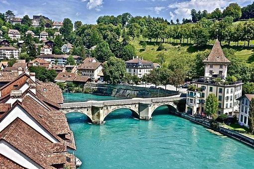 Bridge, Bern, Swiss, Historical, Heritage, Panorama