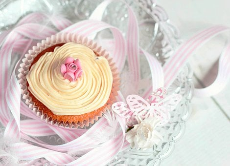 Cupcake, Tea Party, Muffin, Icing, Pink, Pretty, Cake