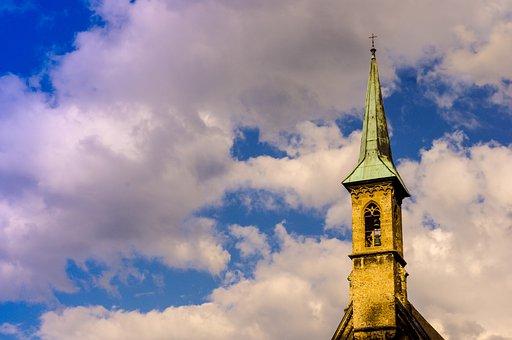 Salzburg, Austria, Tower, Church, Building