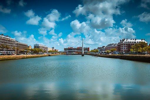 Le Havre, France, Normandy, River, Travel, Landscape