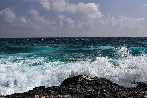 Waves, Splash, Wind, Spray, Foam, Sky, Clouds, Nature