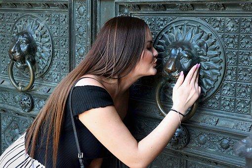 Kiss, Hair, Long, Woman, Lips, Young Woman, Female
