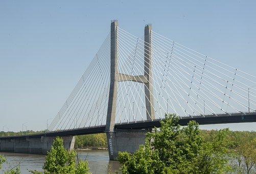 Bridge, Span, Architecture, River, Landmark, Travel